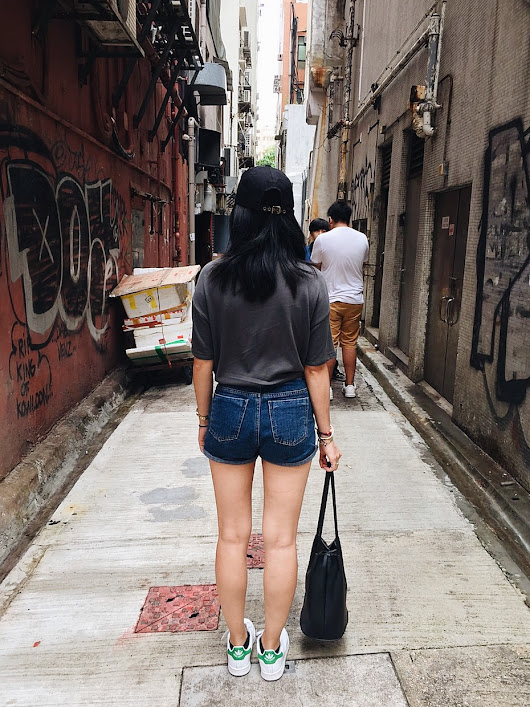EXPLORING HONG KONG IN DENIM SHORTS AND BASEBALL CAP | Following-mi
