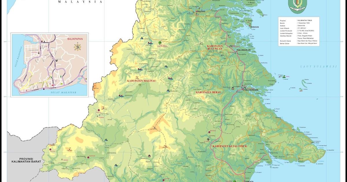 Peta Kota: Peta Provinsi Kalimantan Timur
