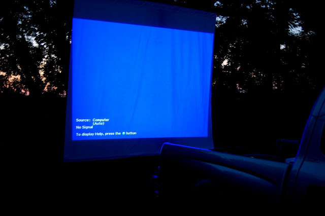 Old fashioned Drive In movie @ at home date night