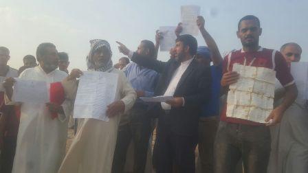 إحتشد أهالي القرى المحرومين في ناحية «اسماعيليه» بمدينة الأهواز