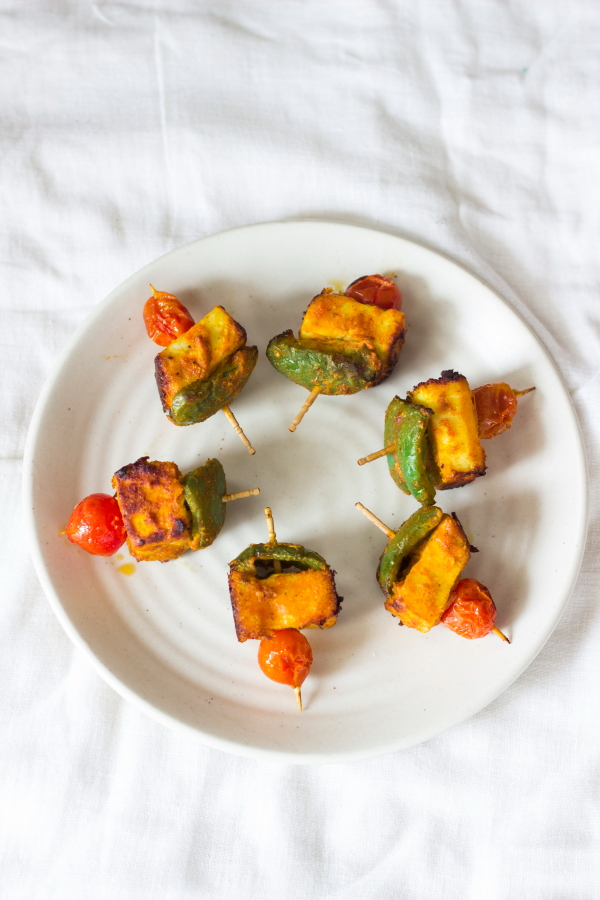 instant quick paneer tikka masala grilled capsicum pepper tomato spices