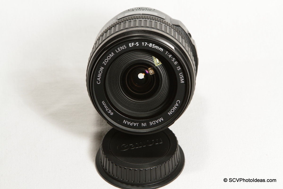 Canon EF-S 17-85mm F/4.0-5.6 IS USM front element and filter thread.