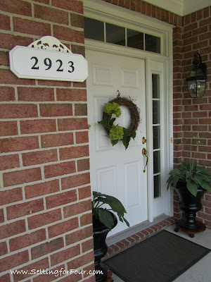 Home Improvement and curb appeal tip: Easy DIY House Number Address Plaque Makeover tutorial with complete supply list and step by step instructions that you can follow along to make one for your home! It's SUPER IMPORTANT for your house number to be visible from the street for emergency responders!