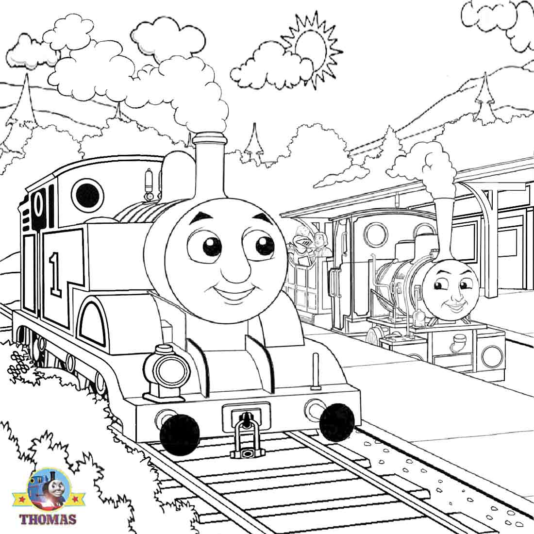 thomas coloring pages train engineer - photo#34