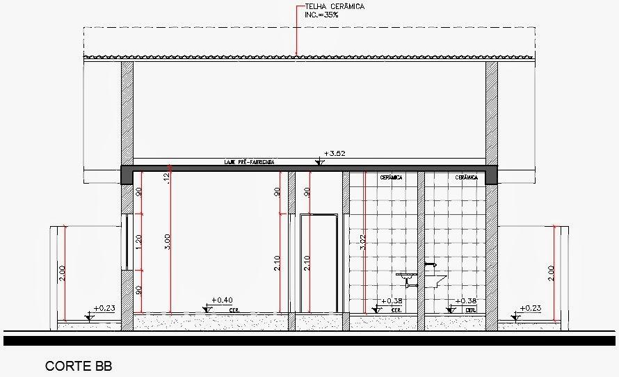 Projeto Arquitetônico: Cortes + download de blocos para
