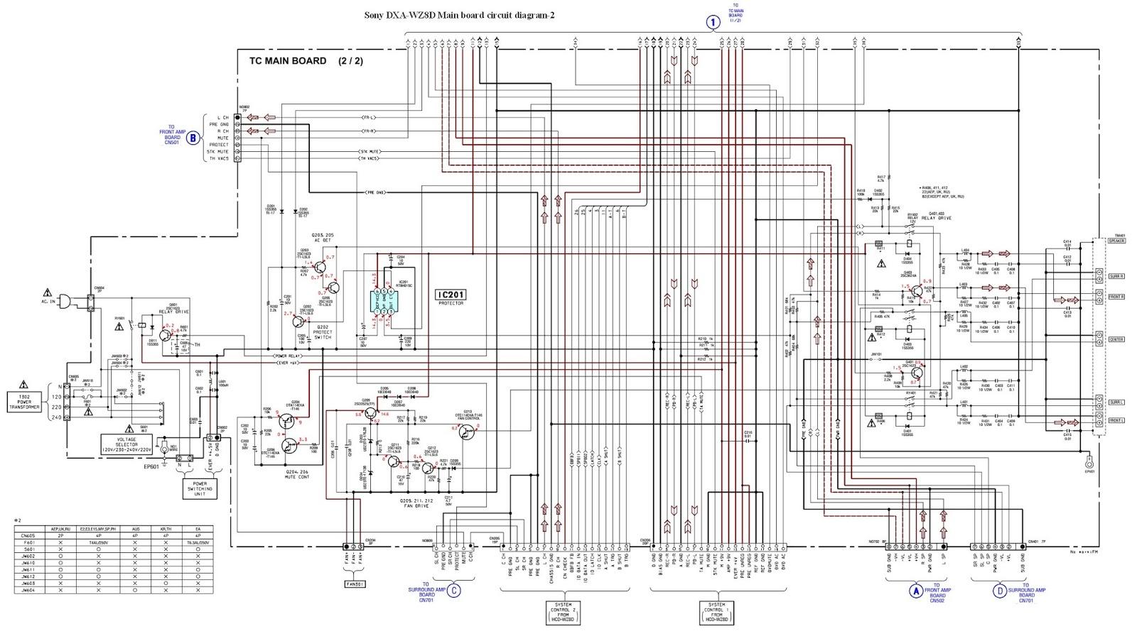 medium resolution of sony dxa wz8d front amplifier board circuit diagram