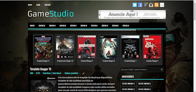 Game Studio Blogger Template