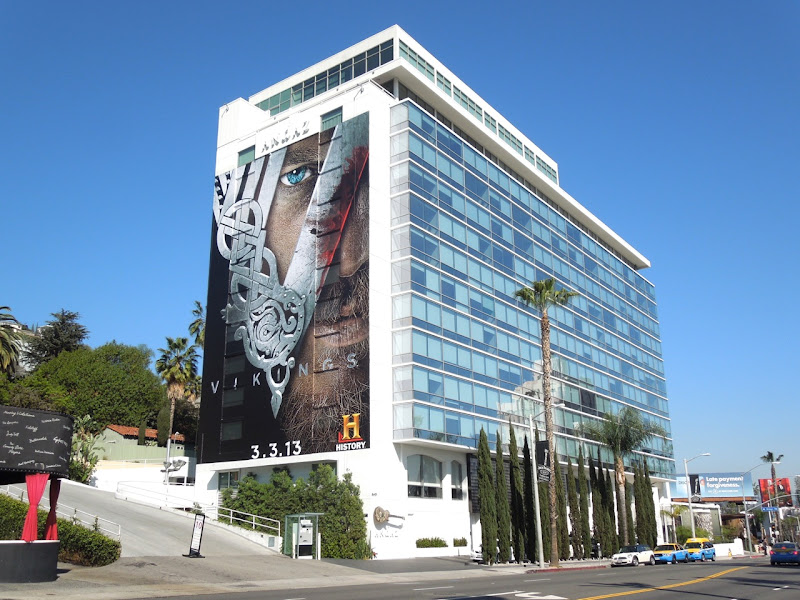 Giant Vikings series premiere billboard Sunset Strip