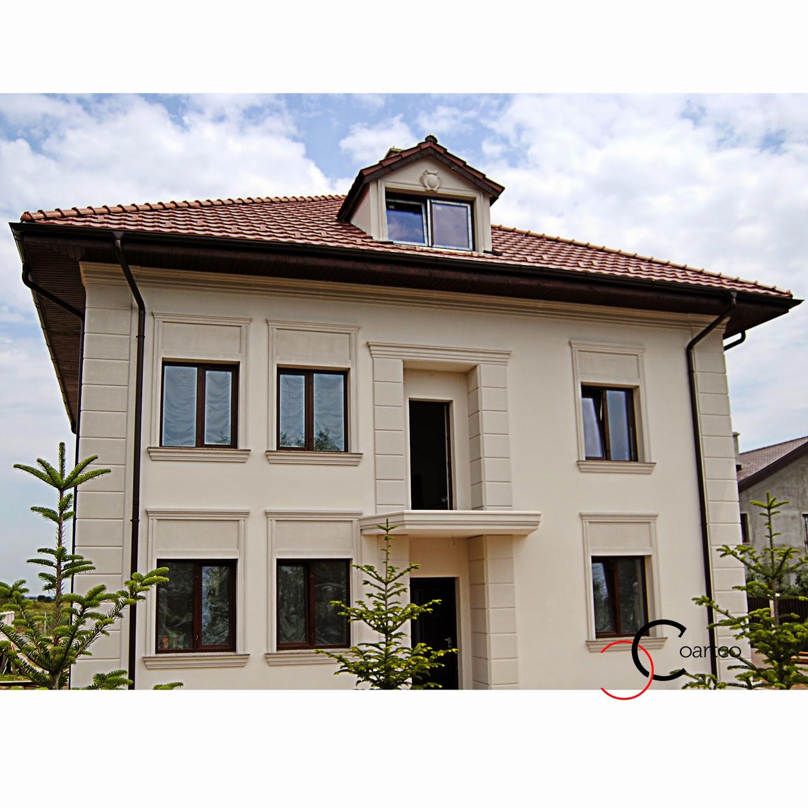 Fatada casa cu profile decorative din polistiren profile for Ornamenti casa
