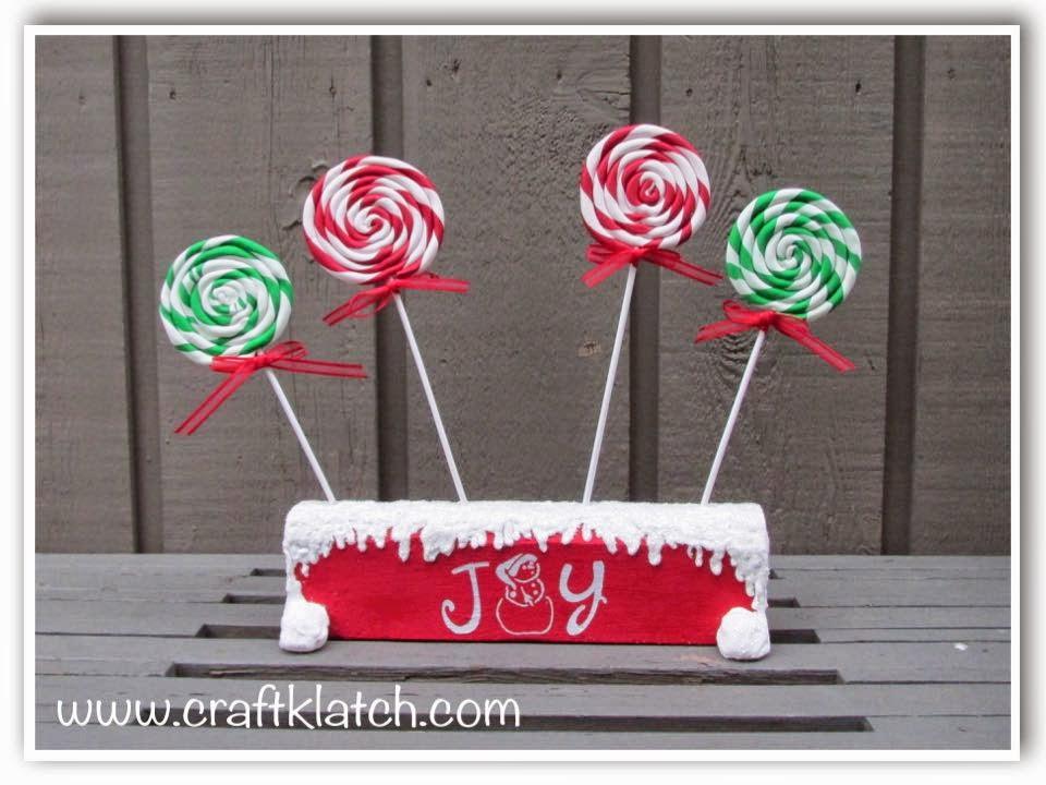 Craft Klatch Diy Lollipop Christmas Coaster Set Another Coaster