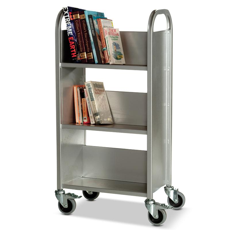 Trolley buku dan arsip stainless