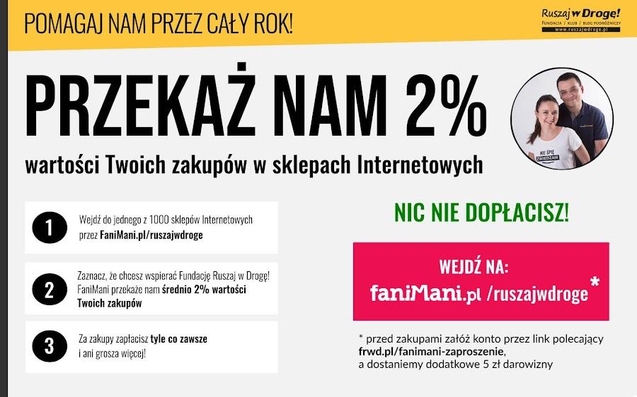 Pomagaj Fundacji Ruszaj w Drogę! na FaniMani
