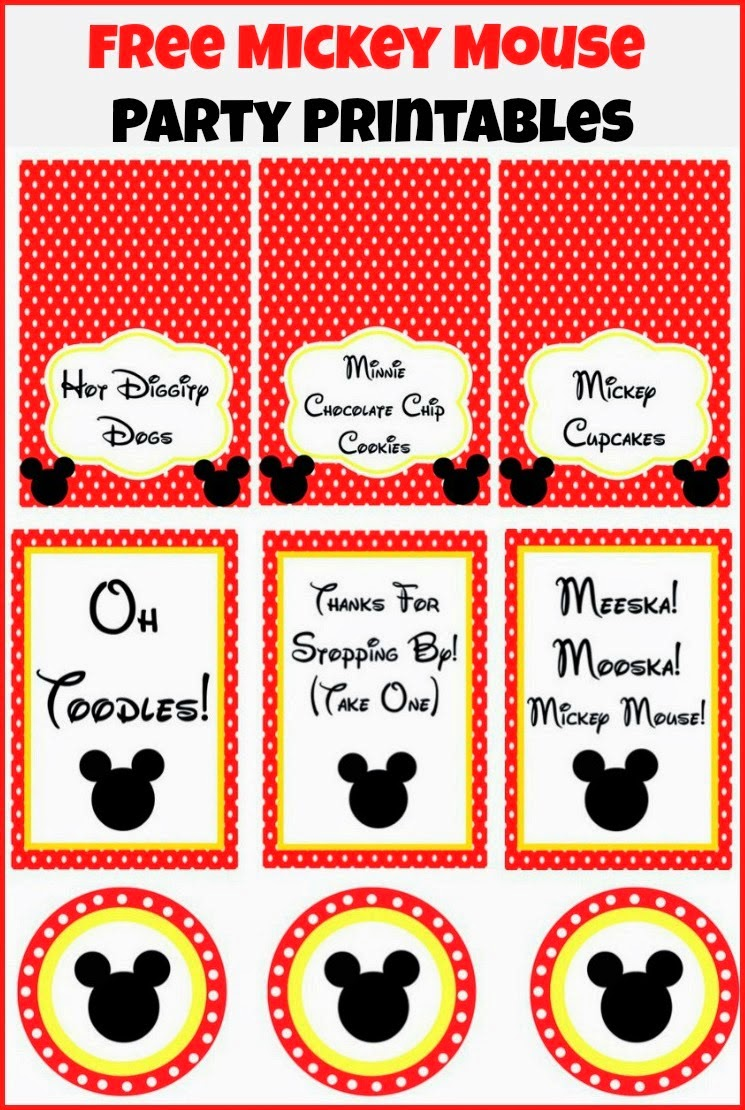 Mickey: Mini Kit para Imprimir Gratis.