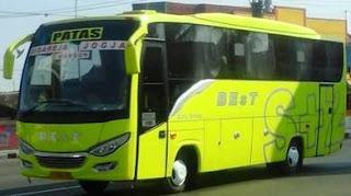 Daftar Rute dan tarif Bus BEst jurusan Cilacap, Sidareja, Kawunganten, Wangon, Yogyakarta