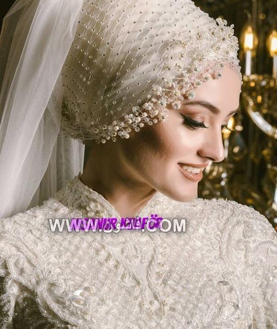 فساتين زفاف, فساتين زفاف محجبات, لفات طرح للزفاف, لفات حجاب للزفاف, أشكال لفات الحجاب فى الفرح