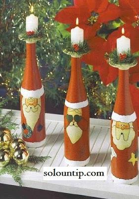 botellas-manualidades-navideñas
