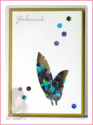 Stampin' Up! rosa Mädchen Kulmbach: Geburtstagsschüttelkarte mit Federn und Partyballons