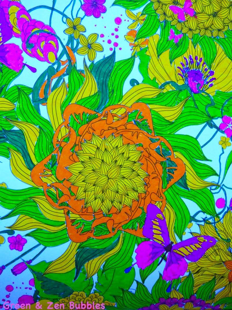 Green Zen Bubbles Le Coloriage Pour Adultes C Est Tendance