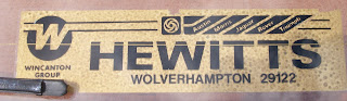 Hewitts rear window sticker