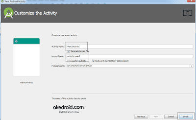 Customize the Activity Android Studio
