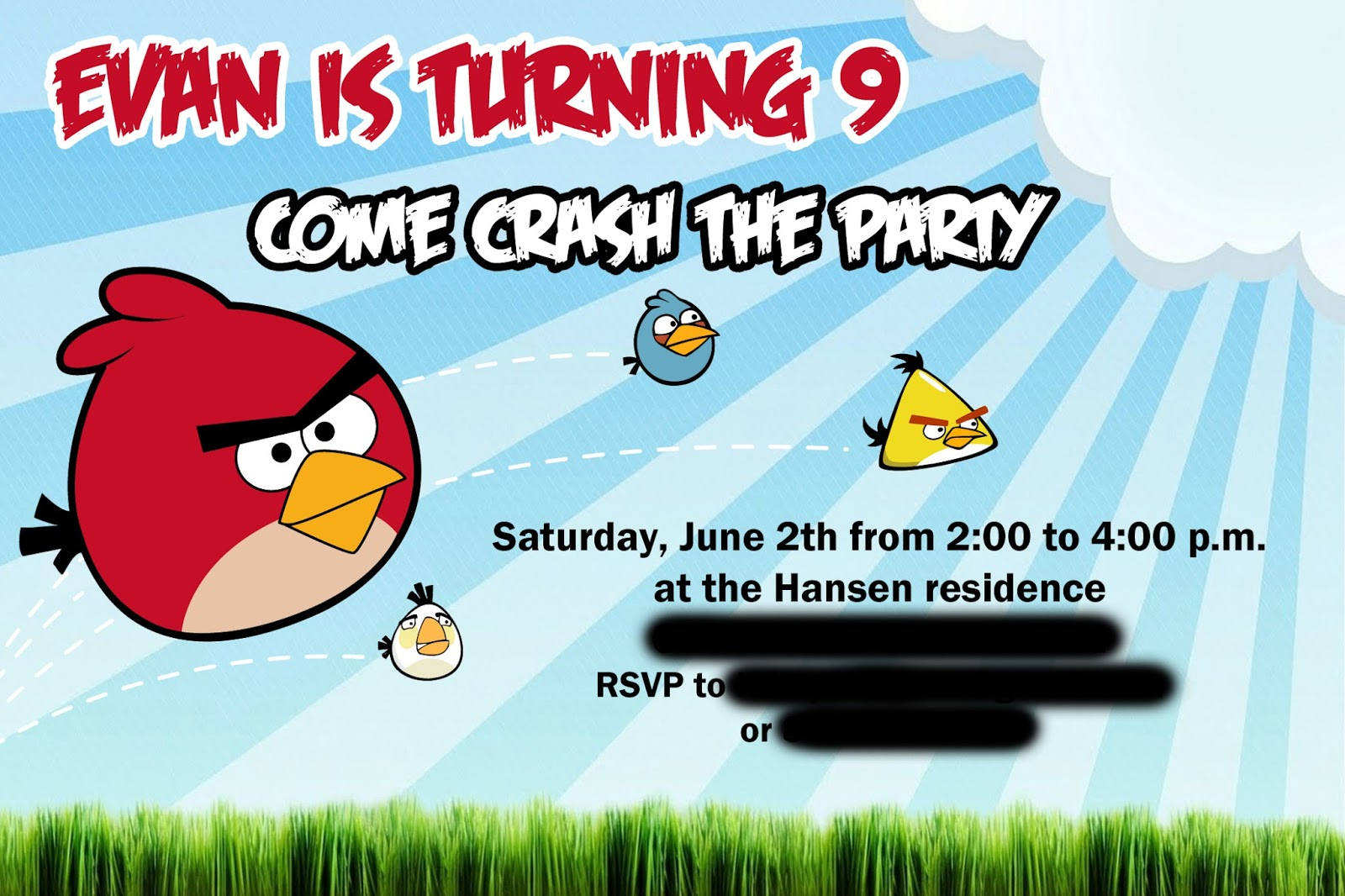 BIRTHDAY BLUEPRINT Angry Birds Party – Angry Birds Party Invitations