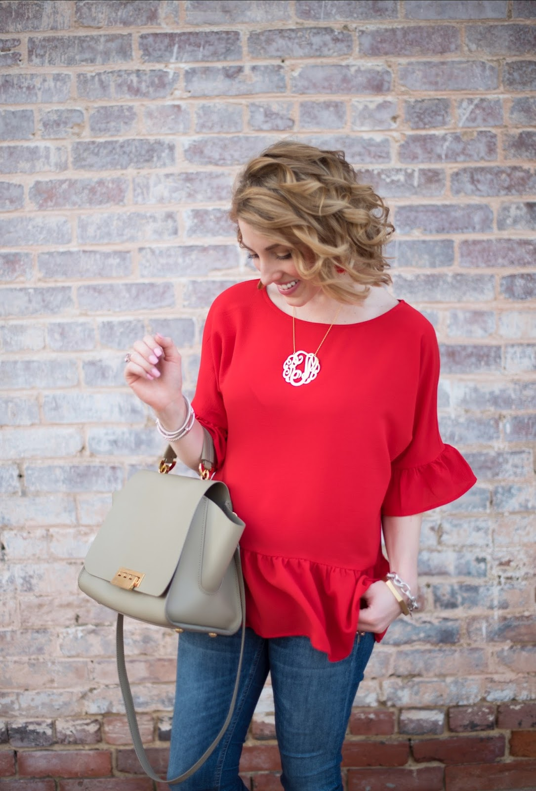 Ruffle Hem Top - Something Delightful Blog