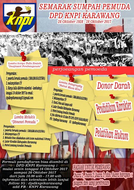 Ayo Ikuti Semaraknya Hari Sumpah Pemuda DPD KNPI KARAWANG