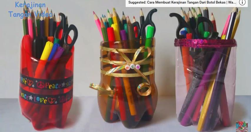Cara Membuat Kerajinan Tangan Tempat Pensil dari Botol ...