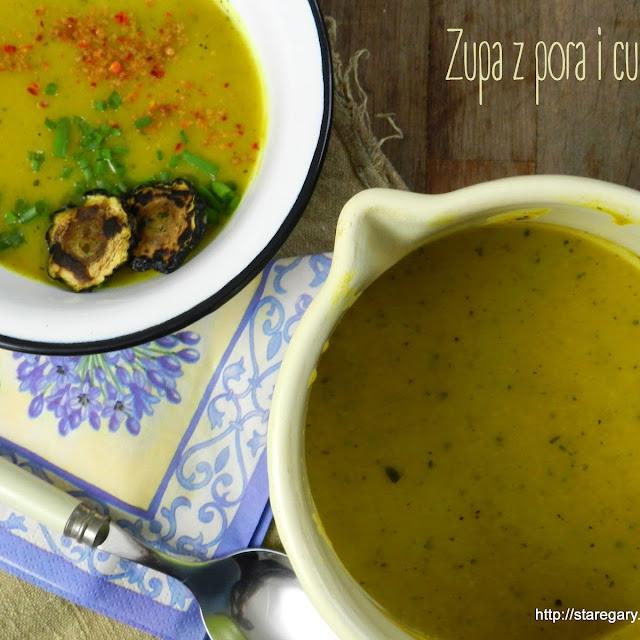 Zupa z pora i cukinii