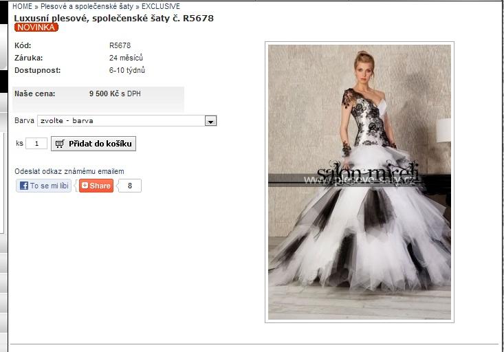 Protivná blondýna  Luxusní šaty z čínské manufaktury 03f4b9ef928