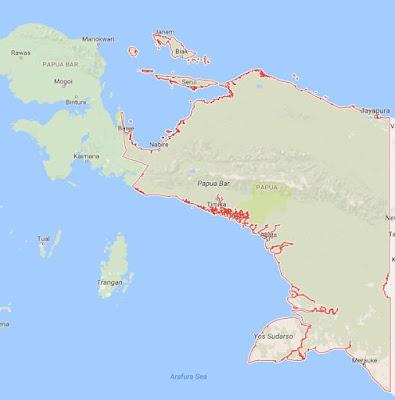 Peta Wilayah Provinsi Papua