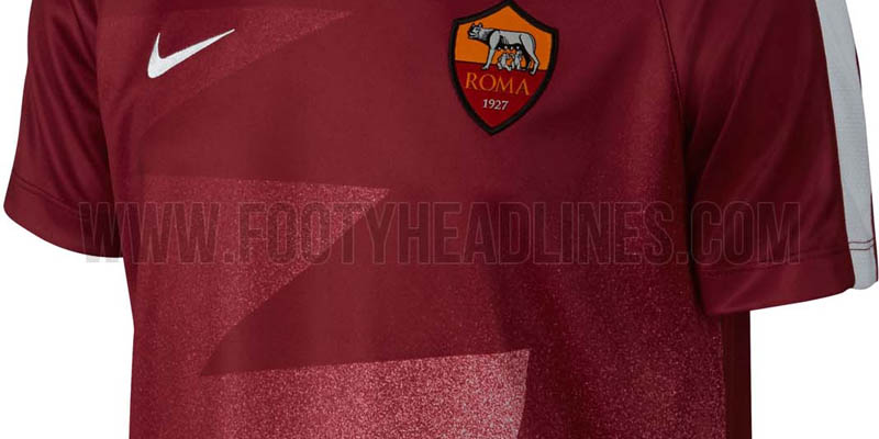 a907644912a AS Roma will wear new 2015-2016 Pre-Match and Training Kits by Nike during  the upcoming Serie A season