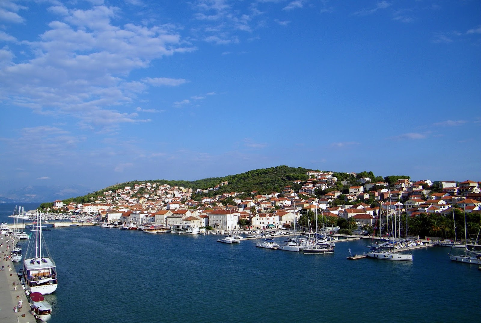 Trogir - Panorama miasta - Port - Otok Ciovo