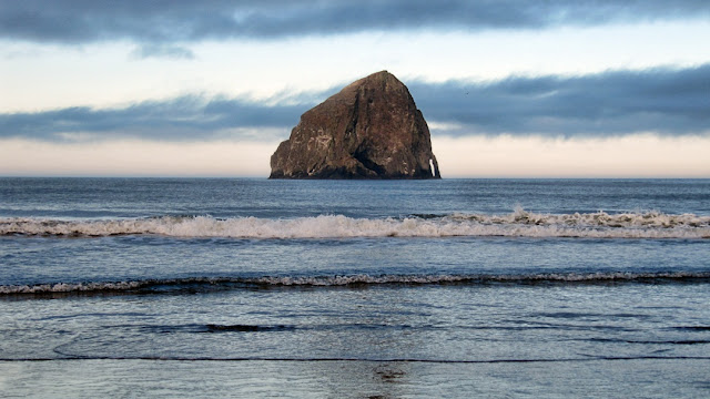 Haystack Rock at Cape Kiwanda, OR...