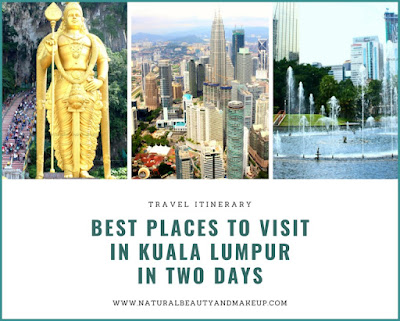 A 2-day travel itinerary for Kuala Lumpur, Malaysia. Best places to visit and things to do in Kuala Lumpur in two days, 48 hours travel-guide Malaysia