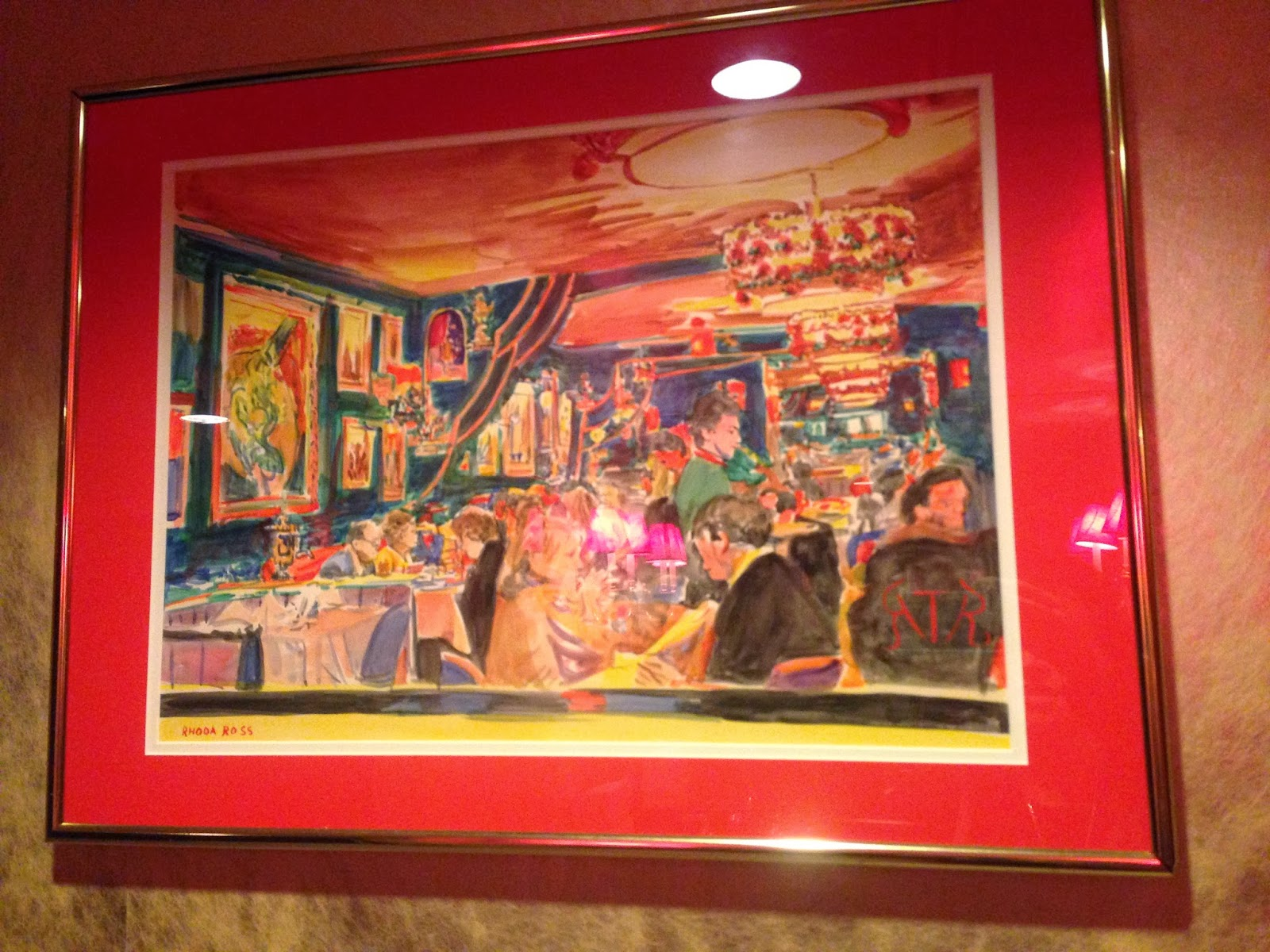 art in the Russian Tea Room