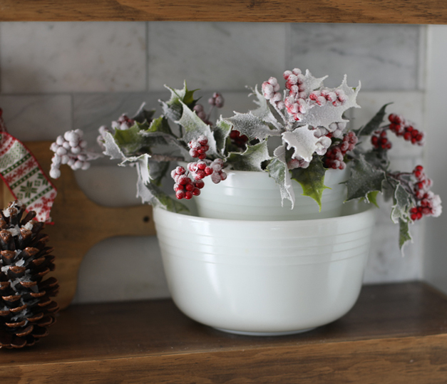 Decorating with floral picks for Christmas