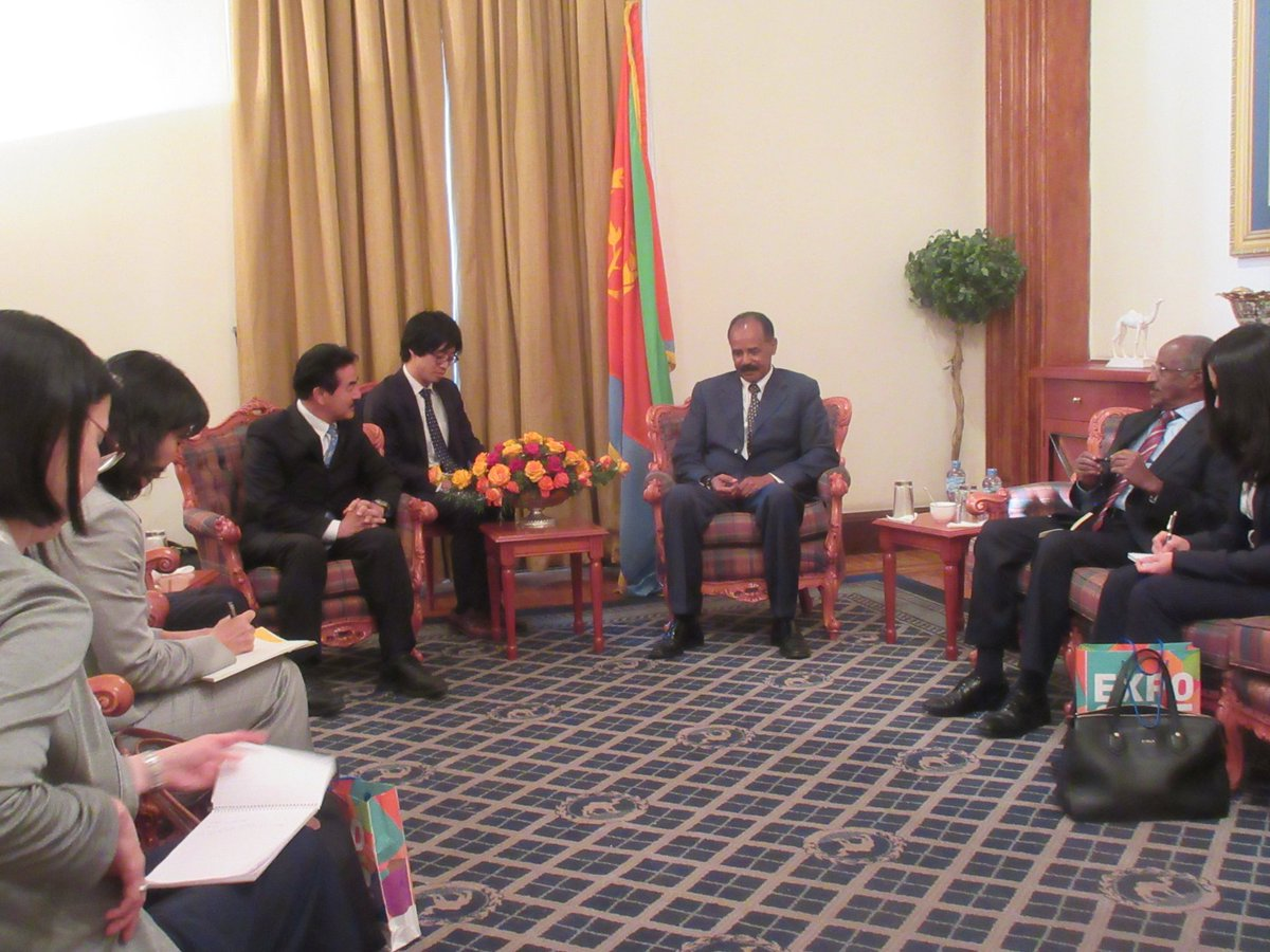 <President Isaias held talks with Japanese delegation