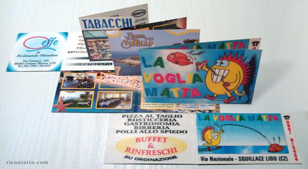 Biglietti da visita pieghevoli by Ricontatto.com