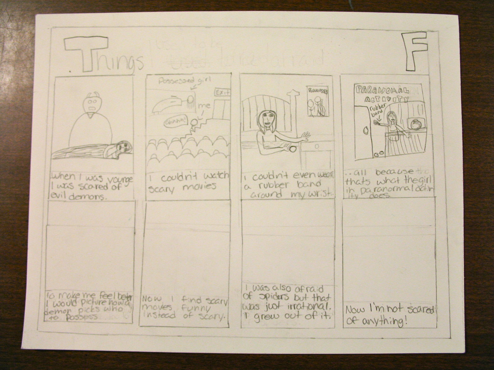 Coonley Art Studio Autobiographical Comic Strips