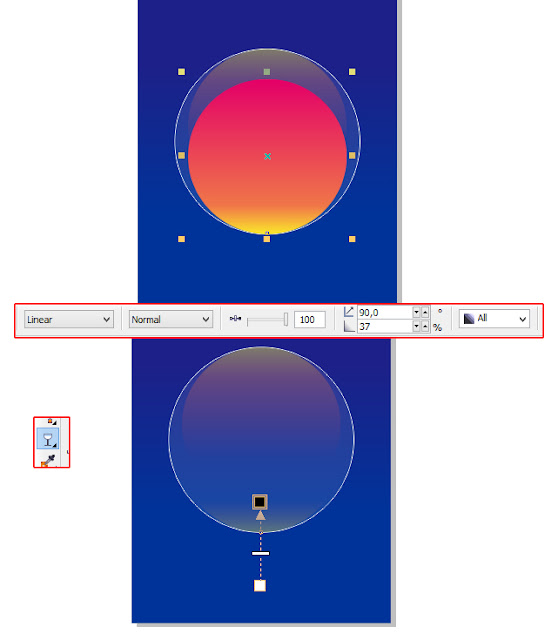 tutorial coreldraw, vector coreldraw, soap bubble coreldraw