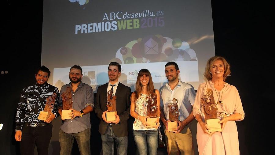 Premios Web 2015 ABC de Sevilla, premiados