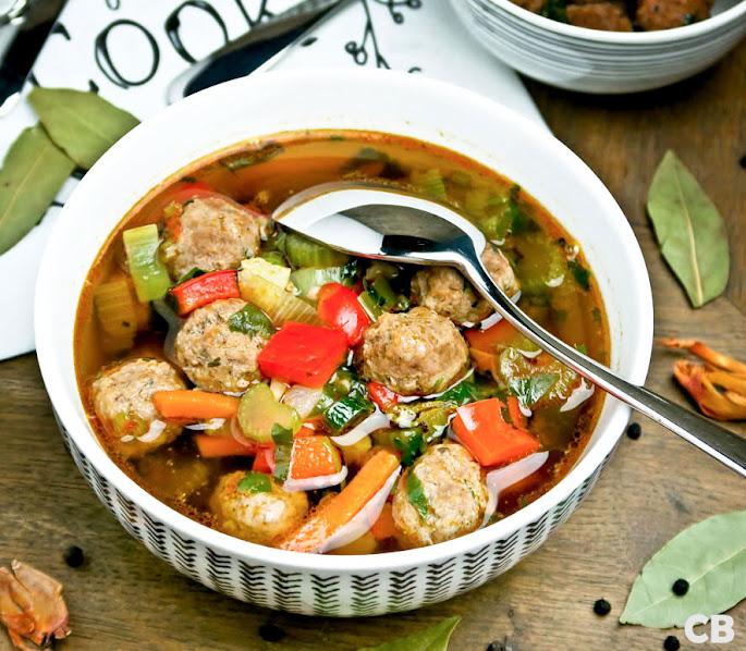 Recept Ouderwetse groentesoep met balletjes