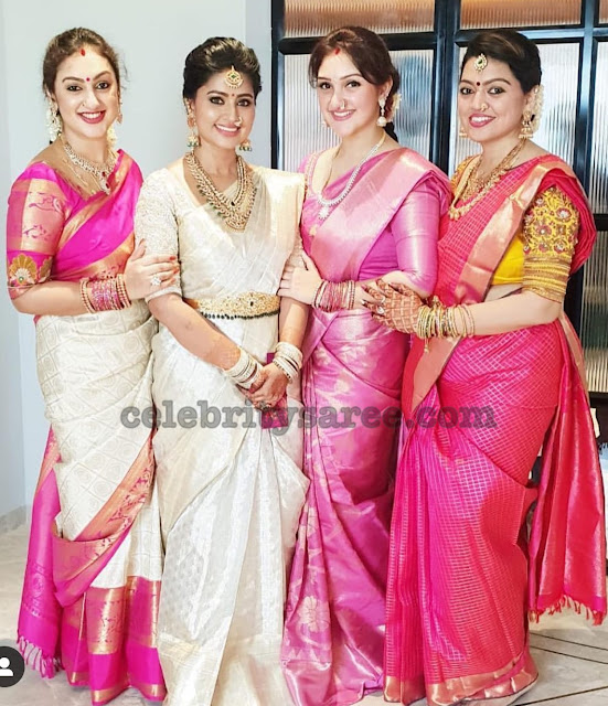 Preeta and Sridevi Kanchi Pattu Sarees