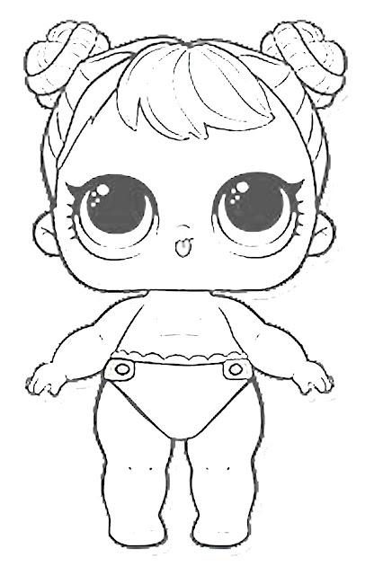 gambar mewarnai LOL surprise baby edition printable coloring pic