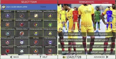 FTS 18 Mod Sriwijaya FC by Reksi Android Terbaru