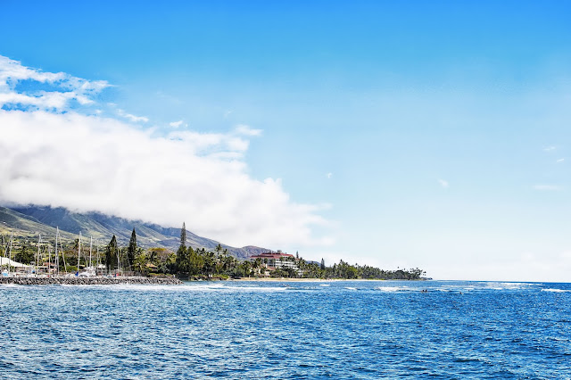 view from the Expeditions Ferry of Maui