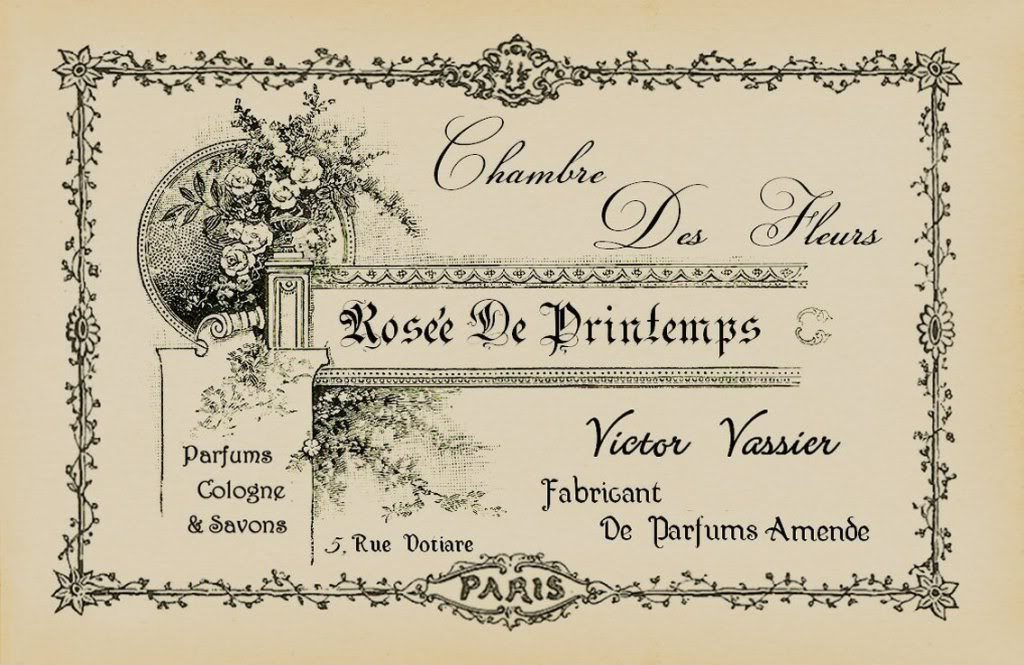 Tattered Treasures Printable French Perfume Label!