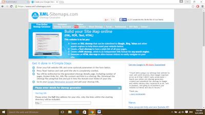 XML sitemap website