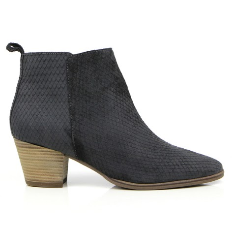 Seven Boot Lane Erin Charcoal Snake Suede Boot